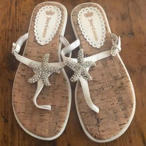 🌟Juicy Couture crystal starfish sandals 🌟